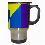 Colorful Red Yellow Blue Purple Travel Mugs (White) Right