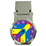 Colorful Red Yellow Blue Purple Money Clip Watches Front