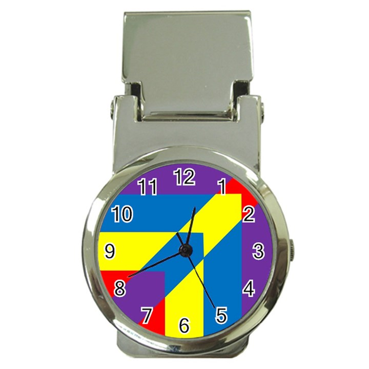 Colorful Red Yellow Blue Purple Money Clip Watches