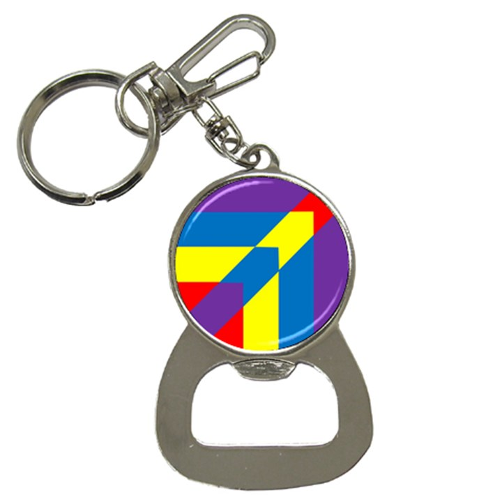 Colorful Red Yellow Blue Purple Bottle Opener Key Chain