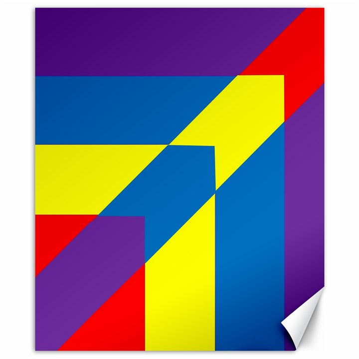 Colorful Red Yellow Blue Purple Canvas 8  x 10