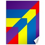Colorful Red Yellow Blue Purple Canvas 36  x 48  48 x36  Canvas - 1