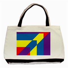 Colorful Red Yellow Blue Purple Basic Tote Bag (two Sides) by Sapixe