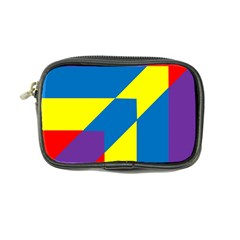 Colorful Red Yellow Blue Purple Coin Purse by Sapixe