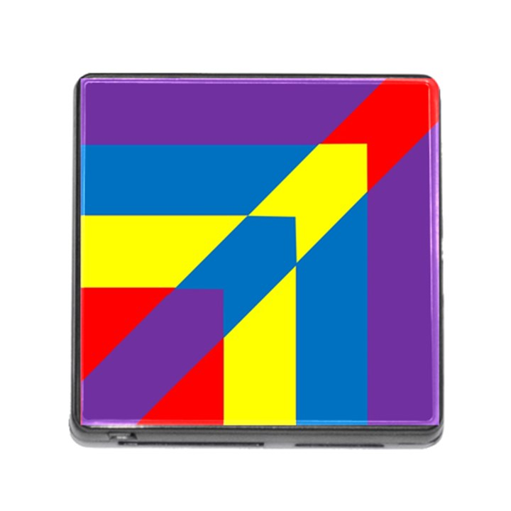 Colorful Red Yellow Blue Purple Memory Card Reader (Square 5 Slot)
