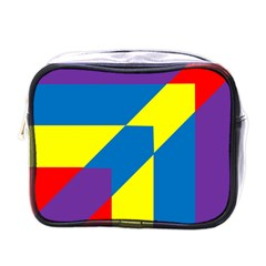 Colorful Red Yellow Blue Purple Mini Toiletries Bag (one Side) by Sapixe