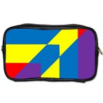 Colorful Red Yellow Blue Purple Toiletries Bag (Two Sides) Front