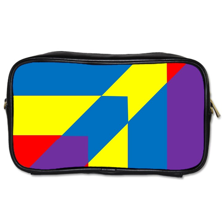 Colorful Red Yellow Blue Purple Toiletries Bag (Two Sides)