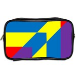 Colorful Red Yellow Blue Purple Toiletries Bag (Two Sides) Back