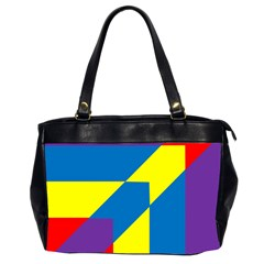 Colorful Red Yellow Blue Purple Oversize Office Handbag (2 Sides) by Sapixe