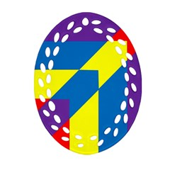 Colorful Red Yellow Blue Purple Ornament (oval Filigree)