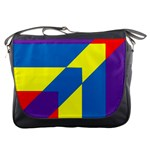 Colorful Red Yellow Blue Purple Messenger Bag Front