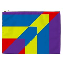Colorful Red Yellow Blue Purple Cosmetic Bag (xxl) by Sapixe