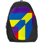 Colorful Red Yellow Blue Purple Backpack Bag Front