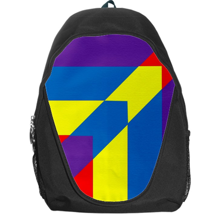 Colorful Red Yellow Blue Purple Backpack Bag