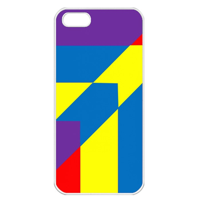 Colorful Red Yellow Blue Purple iPhone 5 Seamless Case (White)