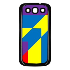 Colorful Red Yellow Blue Purple Samsung Galaxy S3 Back Case (black)