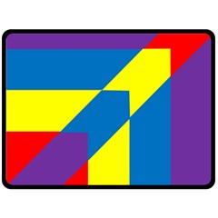 Colorful Red Yellow Blue Purple Double Sided Fleece Blanket (large)