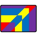 Colorful Red Yellow Blue Purple Double Sided Fleece Blanket (Large)  80 x60  Blanket Front