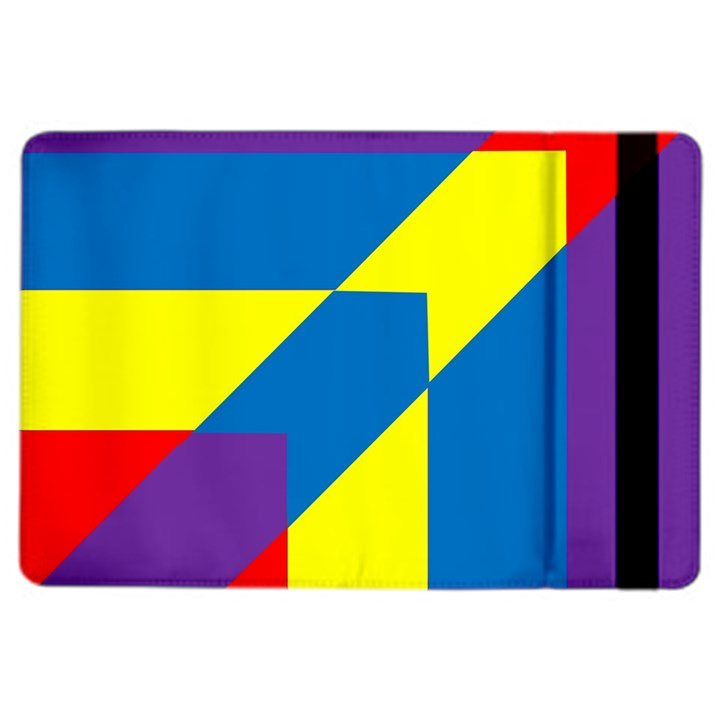Colorful Red Yellow Blue Purple iPad Air 2 Flip