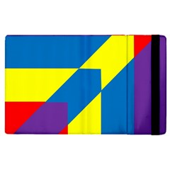 Colorful Red Yellow Blue Purple Apple Ipad Mini 4 Flip Case