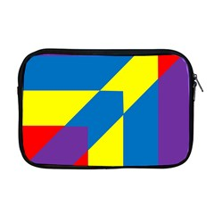 Colorful Red Yellow Blue Purple Apple Macbook Pro 17  Zipper Case by Sapixe