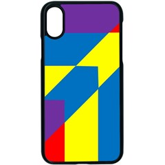 Colorful Red Yellow Blue Purple Iphone X Seamless Case (black)