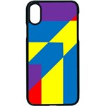 Colorful Red Yellow Blue Purple iPhone X Seamless Case (Black) Front