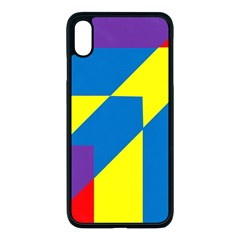 Colorful Red Yellow Blue Purple Iphone Xs Max Seamless Case (black)