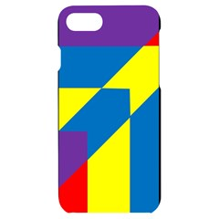 Colorful Red Yellow Blue Purple Iphone 7/8 Black Uv Print Case