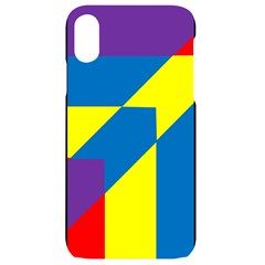Colorful Red Yellow Blue Purple Iphone Xr Black Uv Print Case
