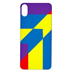 Colorful Red Yellow Blue Purple Iphone X/xs Soft Bumper Uv Case