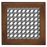Pattern Monochrome Repeat Framed Tiles Front