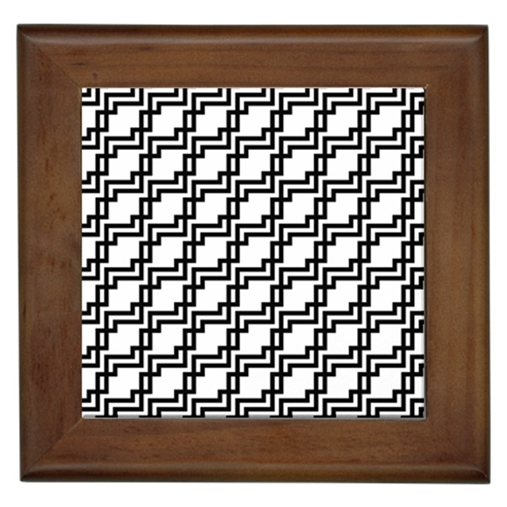 Pattern Monochrome Repeat Framed Tiles