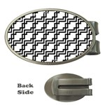 Pattern Monochrome Repeat Money Clips (Oval)  Front