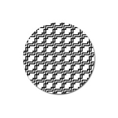 Pattern Monochrome Repeat Magnet 3  (round)