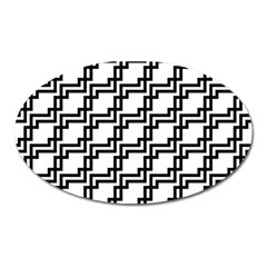 Pattern Monochrome Repeat Oval Magnet by Sapixe