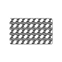 Pattern Monochrome Repeat Magnet (name Card) by Sapixe
