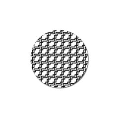 Pattern Monochrome Repeat Golf Ball Marker by Sapixe