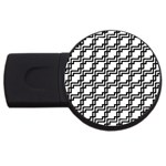 Pattern Monochrome Repeat USB Flash Drive Round (4 GB) Front