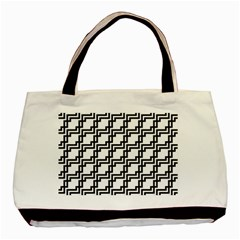 Pattern Monochrome Repeat Basic Tote Bag by Sapixe