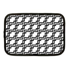 Pattern Monochrome Repeat Netbook Case (medium) by Sapixe