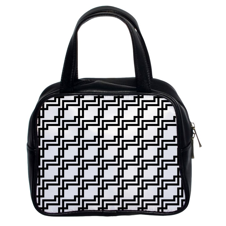 Pattern Monochrome Repeat Classic Handbag (Two Sides)