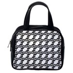 Pattern Monochrome Repeat Classic Handbag (Two Sides) Back