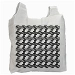 Pattern Monochrome Repeat Recycle Bag (Two Side) Front