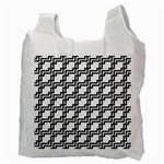 Pattern Monochrome Repeat Recycle Bag (Two Side) Back