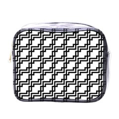 Pattern Monochrome Repeat Mini Toiletries Bag (one Side)