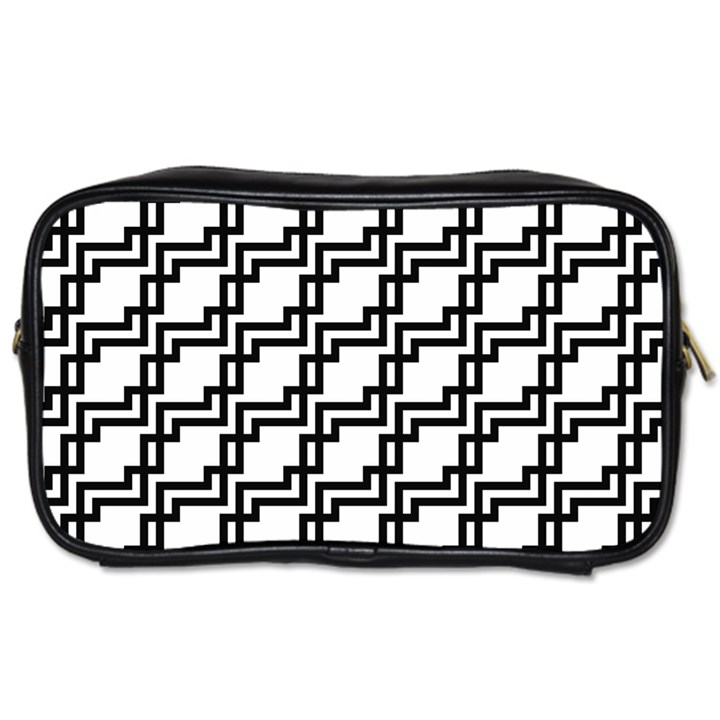 Pattern Monochrome Repeat Toiletries Bag (One Side)