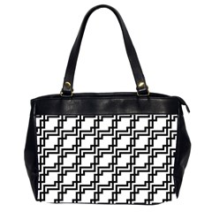 Pattern Monochrome Repeat Oversize Office Handbag (2 Sides)