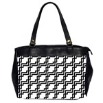 Pattern Monochrome Repeat Oversize Office Handbag (2 Sides) Front